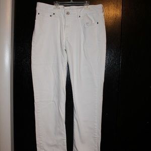Levis Demi Curve Modern Rise Straight Jeans, White